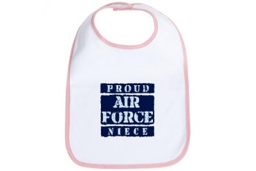 Proud Air Force Niece Air force Bib by CafePress