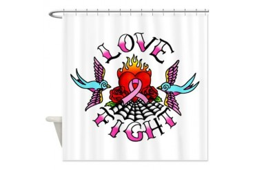 Pink Ribbon Tattoo design Cool Shower Curtain by CafePress