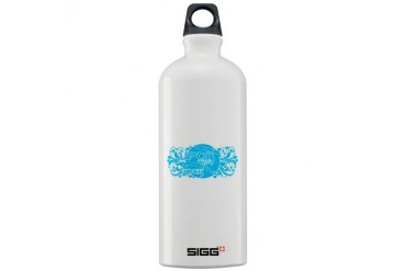 UTR - Moon Struck Blue Jesus Sigg Water Bottle 1.0L by CafePress