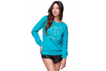 Womens Diamond Supply Co Sweatshirts & Hoodies - Diamond Supply Co Crew Fleece