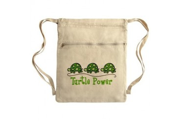 Turtle Power Sack Pack Animal Cinch Sack by CafePress
