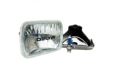 Delta Industries Rectangular Halogen H4 Headlight Kit 01-1249-50 Headlight Replacement