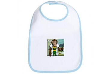 Pot Smoking Monkey 420 Bib by CafePress