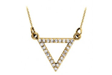 d Triangle Pendant in 14K Yellow Gold with Amazing Design and Coolest Price