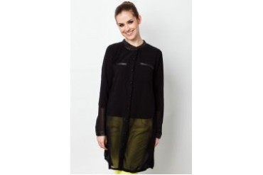 Ethnic Chic Ayu Long Sleeve Blouse(Leather)