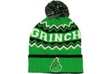 Dr Seuss Grinch Name Pom Embroidered Beanie