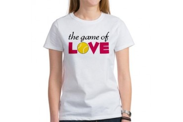 The Game Of Love Tennis Women's T-Shirt by CafePress