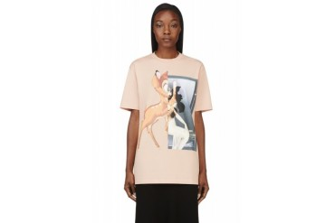 Givenchy Peach Bambi Graphic T shirt