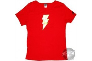 DC Comics Shazam Foil Red Baby Doll Tee