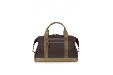 MW Canvas and Leather Duffle Bag