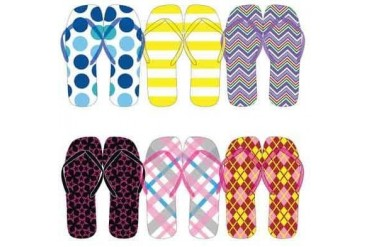 Ddi Women s Assorted Patterned Flip Flops (pack Of 72)