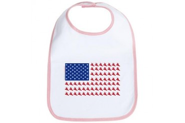 Patriotic Snowboarder USA Fla Sports Bib by CafePress