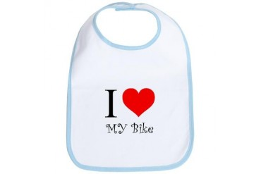 I Love my bike Cycling Bib by CafePress