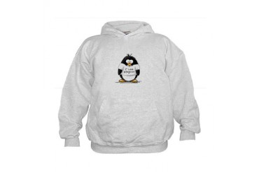 I Love Penguins penguin Kids Hoodie