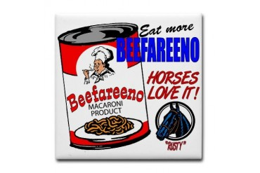 Eat More Beefareeno Funny Tile Coaster by CafePress