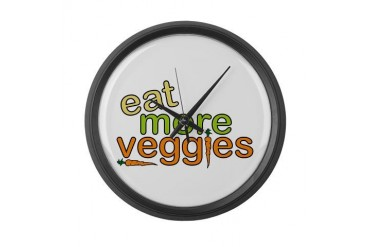Eat More Veggies Nature Large Wall Clock by CafePress