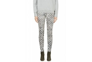 Proenza Schouler White Painted Tweed Ultra Skinny Jeans