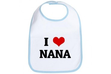 I Love Nana Mom Bib by CafePress