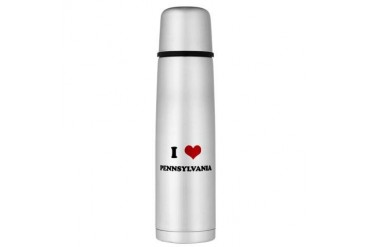 PENNSYLVANIA.png Large Thermos Bottle Funny Large Thermosreg; Bottle by CafePress