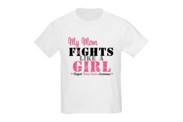 My Mom Fights Like a Girl (BC) Kids Light T-Shirt