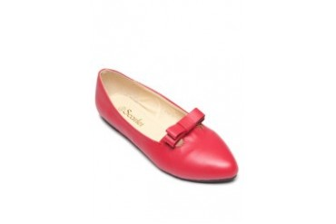 Scarlet Pointed Flats