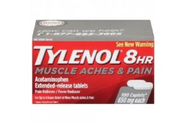 Tylenol 8 Hour Muscle Aches and Pain 100 Caplets Bottle