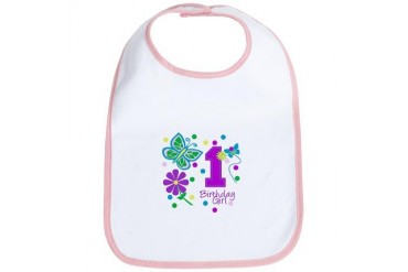1st Birthday Girl Princess Bib by CafePress