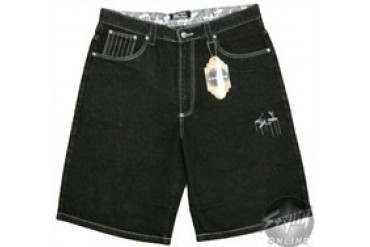 Godfather Family First Black Embroidered Shorts