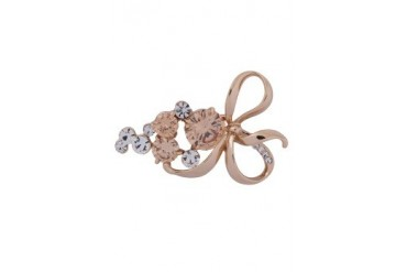 eslystyle.com Ribbon Crystal Brooch