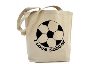 I Love Soccer Sports Tote Bag by CafePress