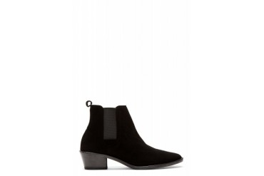 Repetto Black Goatskin Suede Aguste Chelsea Boots
