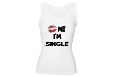 Kiss Me I'm Single Funny Women's Tank Top by CafePress