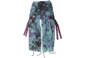 Kids Unisex Basic UFO Pants (Blue/Purple Tie Dye)