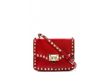 Valentino Red Rockstud Crossbody Bag
