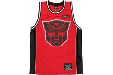 Transformers Autobot Prime 84 Red Basketball Jersey