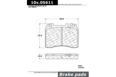 1994-1995 Mercedes Benz E420 Brake Pad Set Centric Mercedes Benz Brake Pad Set 104.05611 94 95