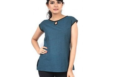 Charming blue cotton kurti