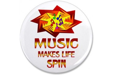 Music Spins Music 3.5 Button by CafePress