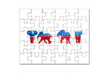 Republican Elephants Conservative Puzzle by CafePress