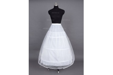 Women Nylon/Tulle Netting Floor-length 2 Tiers Petticoats (037023567)
