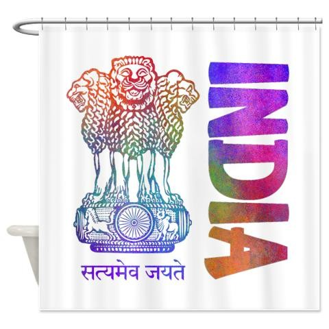 India Symbol Indian Shower Curtain by CafePress - Price Comparison