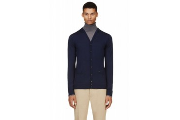 Dsquared2 Navy And Grey Layered Turtleneck