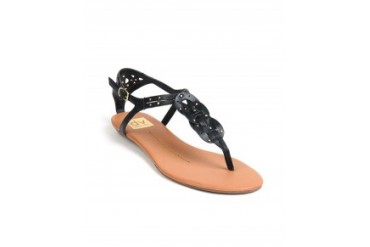 Dv by Dolce Vita 'Azania' Twisted T-Strap Sandals Black, 9.5