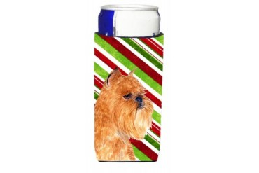 Brussels Griffon Candy Cane Holiday Christmas Ultra Beverage Insulators for