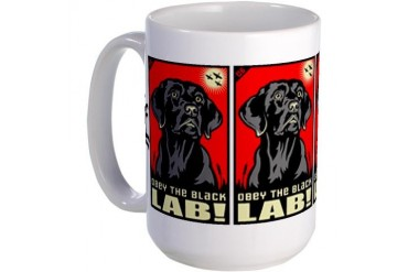 Obey the Black Lab! 06 Large Mug