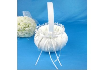 Lovely Flower Basket in Satin With Ribbons (102040457)