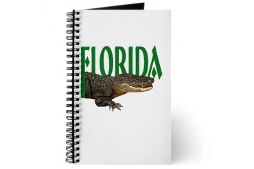 Florida Alligator Spiral Notebook Travel Journal by CafePress