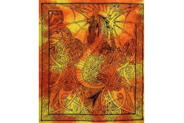 Fire Dragon Tapestry