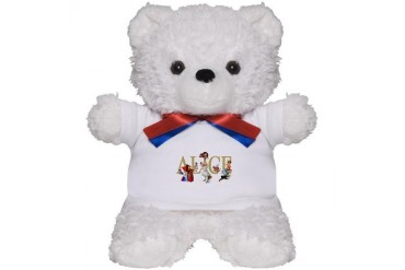 Alice and Her Friends in Wonderland Baby Teddy Bear by CafePress