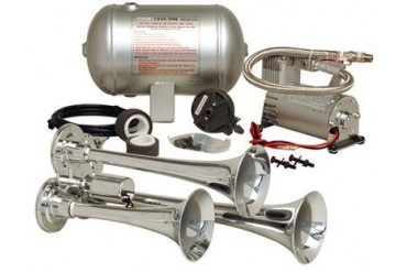 Kleinn Train Horns Complete triple air horn package with 130 psi sealed air system  HK3 Kleinn Complete Kits